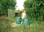Paul with the council compost bins - they're very good