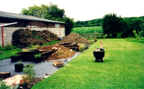 topsoil from the pond to be used in raised beds